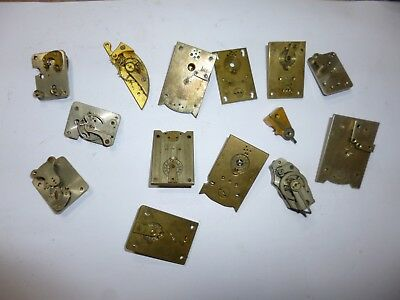 ** Assortment Of Antique Clock Platform Escapements For Parts **