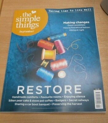 The Simple Things magazine #75 SEP 2018 Ripe Tomatoes Laid-Back Weekends Badgers