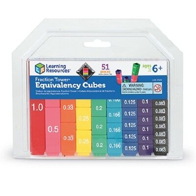 Fraction Tower Equivalency Cubes from Learning Resources | KS2 Maths