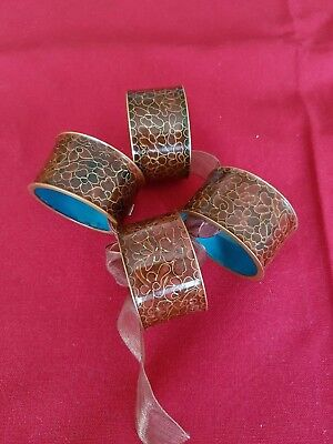 Four Vintage Cloisonne And Enamelled Napkin Rings