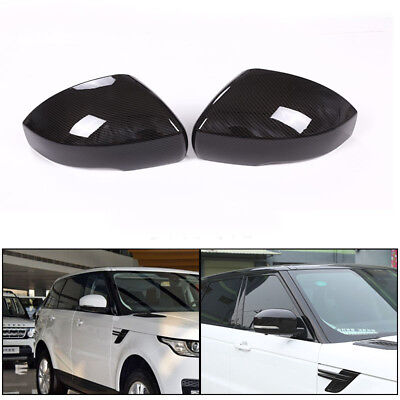 ABS Carbon Style Rear Mirror Cover Cap Shell Trim Fit For Range Rover 4 Evoque