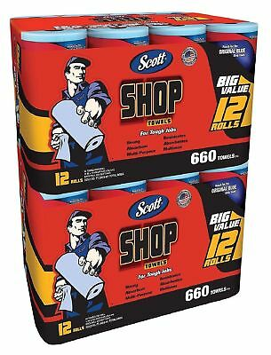 Scott Shop Towels Bundle 24 Rolls 1,320 Sheets Easily Absorbs Liquids Oils - NEW