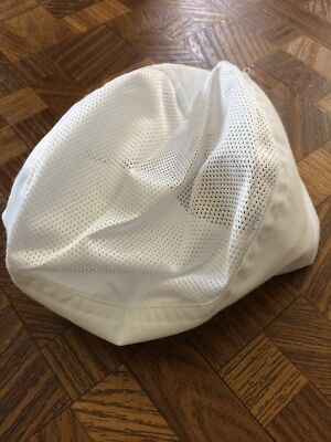 White Color Mesh Top Sushi Chef Hat Size: L