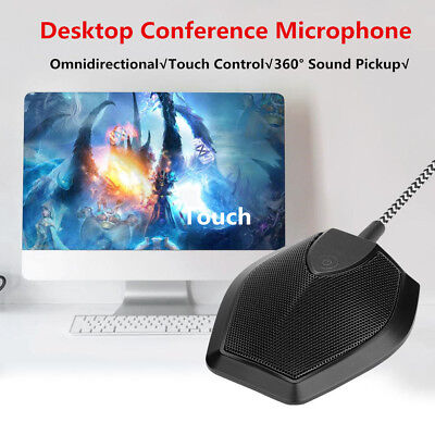 USB Omnidirectional Stereo Conference MIC Desktop Meeting Condenser Microphone