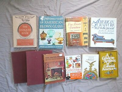 Lot of 10 Antique Guidebooks: Glassware, Furniture, Artifacts, American Heritage