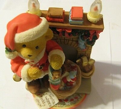Cherished Teddies SANFORD -Celebrate Family Friends Traditions Christmas Bear