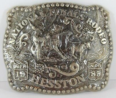 National Finals Rodeo Belt Buckle Hesston 1985 NFR Western
