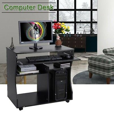 Movable Computer Desk Home Office Desk for Small Spaces Sturdy Study Workstation