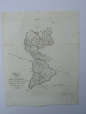 Map of the New Continent. North & South America. Andrew Bell. 1758. Rare.