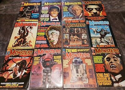 Famous Monsters of Filmland Magazine Joblot - Vintage Scary Horror Comic Lot