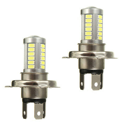 2X(2x H4 5630 SMD 18W 6000K 33 LED Motorcycle Car Fog Lamp Front Light Head W3A4
