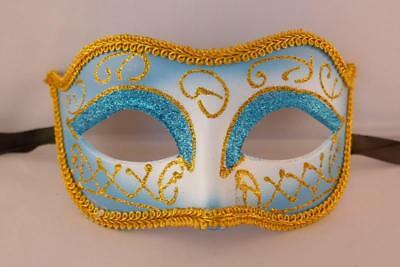 Blue Masquerade Masks Prom Stag Hen New Years Eve Fancy Dress Party Celebration