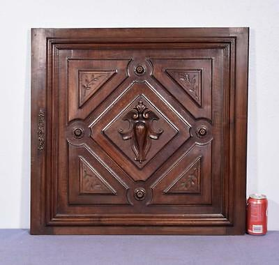 *French Antique Solid Walnut Carved Cabinet Panel/Door Salvage 1