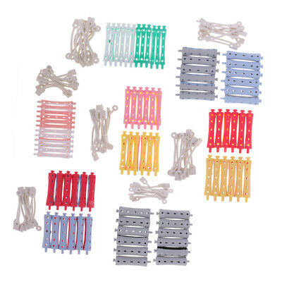 72 Pieces Hair Curler Clamps Hairdreser Perm Rods Hair Styling DIY Tools Kit