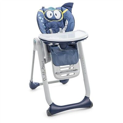CHICCO Chaise haute Polly 2 in1 Start Shark 0-3anni High Chair STOL (montagne)
