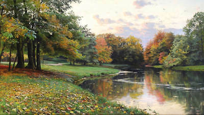Autumn Mossy Creek by Peder Mork Monsted