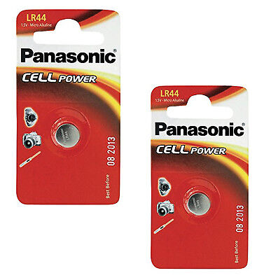 Genuine 2X Panasonic Lr44 1.5V Alkaline Button Cell Batteries Lr 44 A76 Hexbug