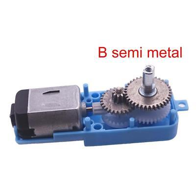 Electrical Semi Gear Motor Speed Metal Geared Reducer Output Shaft 1:90 New