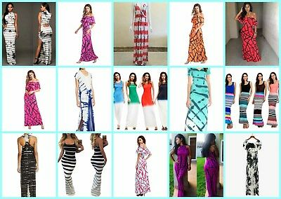 US SELLER, lot of 12 hippie clothes wholesale summer maxi dress retro sexy