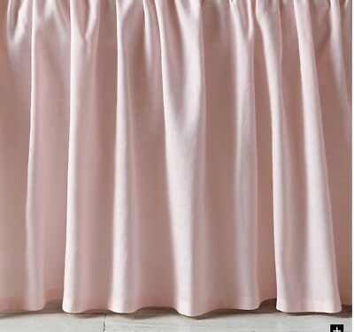 Restoration Hardware Baby & Child Gathered Linen Cotton Crib Skirt Petal Pink