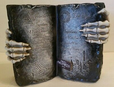 Book of Spells Potions Witch Wiccan Witchcraft Maker's Halloween Decor Figurine