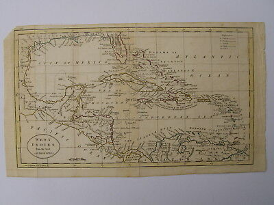 Map. West Indies from the best authorities. Engraved Russell de ?. c1763 - 1783.