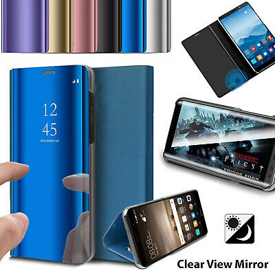 New Smart View Mirror Leather Flip Stand Case Cover For Samsung Galaxy S9 S8 S7