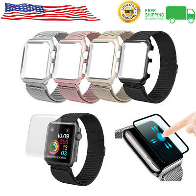 For Apple Watch Series 3/2/1 Milanese Stainless Steel Watch Band Strap 38 / 42mm