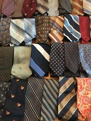 Lot Of 39 Men's Neckties Silk & Polyester Great For A Reseller Or Crafter