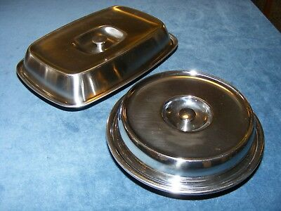 Vintage Old Hall Stainless Steel Serving dishes, Robert Welch and Olde Hall