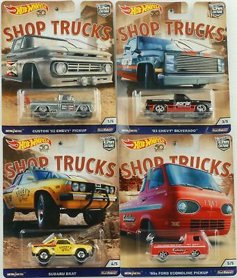 1:64 shop trucks series 4 Car Culture Set RR Chevy Ford Subaru Hot wheels