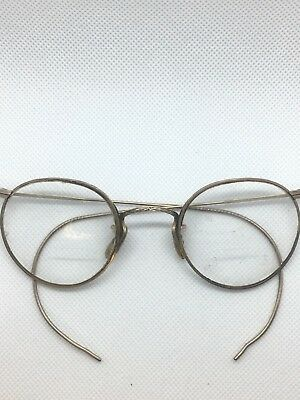 Antique ArtCraft Ful Vue 1/10 12K Gold Filled Wire Spectacle Eye Glasses