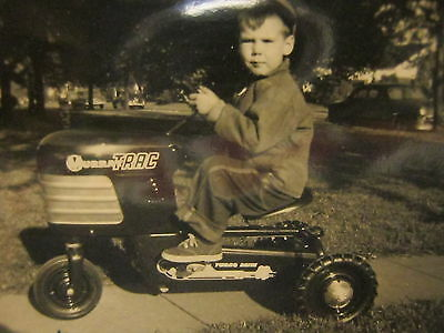 Vintage Murray Tractor Turbo Drive Pedal Car 1954 Black & White Snapshot Photo