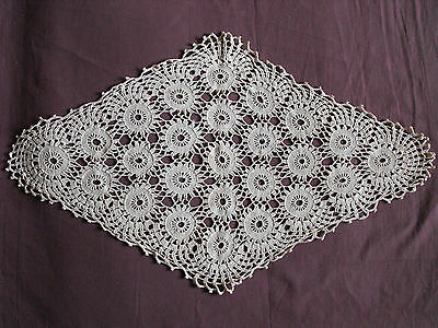 #1064  Beautiful Vintage Hand Made Table Runner  68cm/42cm(27''x16.5'')
