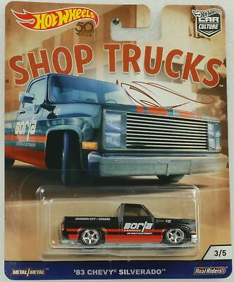 1:64 Hot Wheels Shop trucks Car culture 83 Chevy Silverado Pickup 2018