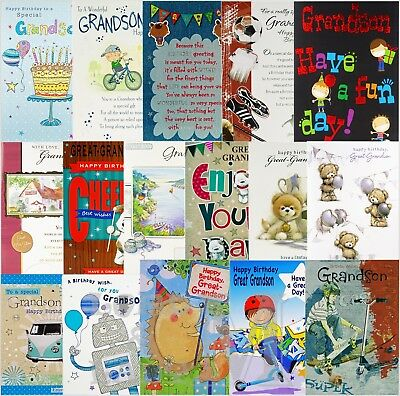 Grandson Birthday Cards X 12 Just 29p Code 75 Foiled B14