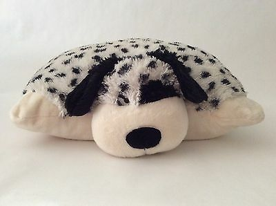 "PILLOW PETS white black DALMATION PUPPY DOG 18"" large plush"