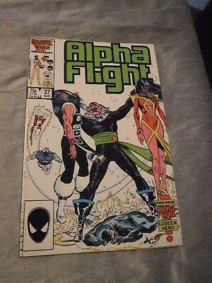 Alpha Flight #37 Pestilence Talisman Shaman Marvel 1986 FN- P&P Discounts