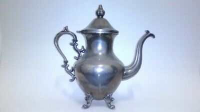"""Antique Silver On Copper Teapot. Measures 12"""" Tall"""
