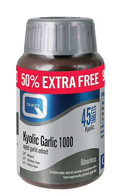Quest Kyolic Garlic - 50% Extra FREE - 30+15 x 1000mg Tablets