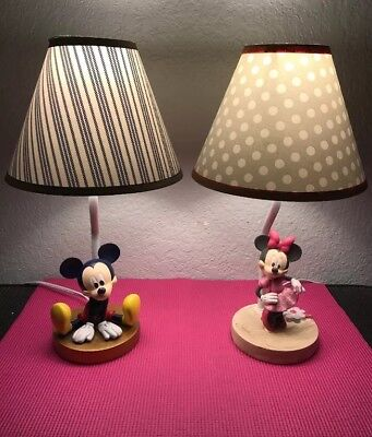 Mickey Mouse & Minnie Mouse Lamps
