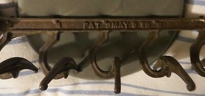 Antique May 5, 85 (1885) Cast Iron Wall Hanging Hat/Coat Rack OR Modern Pot Rack