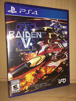 Raiden V Director's Cut Limited Edition (PS4) NEW w/ soundtrack CD - shooter