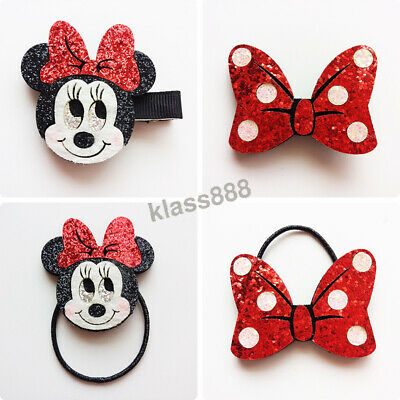 Bling Bling Cute Large Minnie Mouse Dot Bow Girl's Hair Clips & Hair Ties Gift
