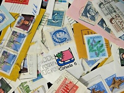Canada Post Cancelled Used Postage Stamps Collectors Lot Random 125g/4.4oz