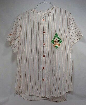 NOS A&W Baseball Jersey Style Button Front Shirt - Size Large