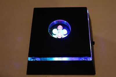 LED Light Stand for Crystal / Glass Art / Multi-color (Red,Blue,Green)