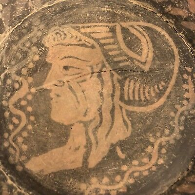 "Extremely Rare Thracian Ancient Plate with Head of Helena 7.5"" dia 550 BC w COA"