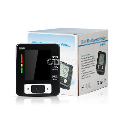 Health Care Automatic Wrist Blood Pressure Monitor LCD Digital Screen OLIECO