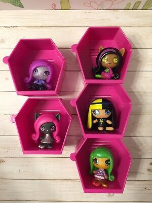 monster high minis series 1 lot catty jinafire clawdeen Cleo rag doll